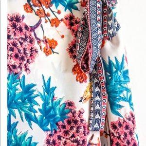Cupio Skirts - Cupio Boho Floral Ruffle Trim Skirt